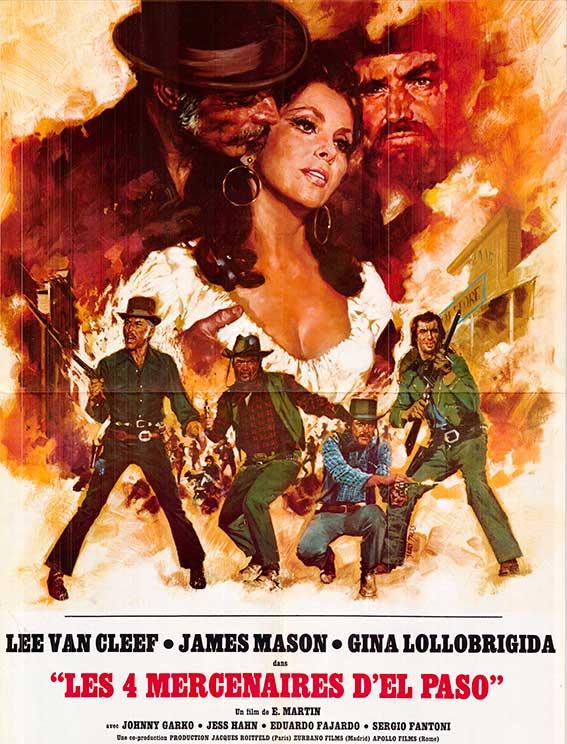 Affiche du film les 4 mercenaires d'El Paso