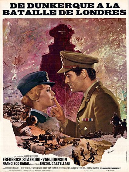 affiche du film de dunkerque à la bataille de Londres