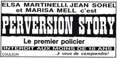 Bandeau publicitaire du film la machination / perversion story
