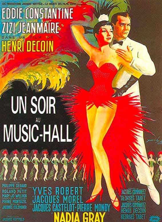 affiche du film un soir au music hall