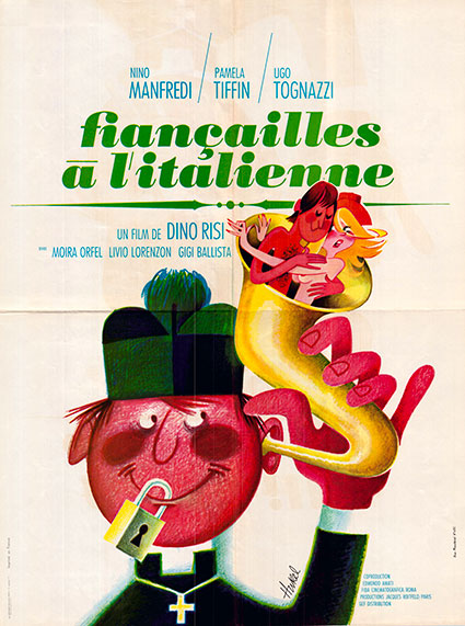 affiche du film fiançailles à l'italienne