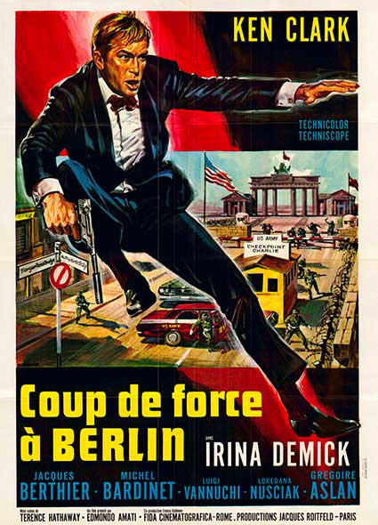 affiche du film coup de force à Berlin